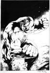 Hulk illo for video game box by Alan Davis