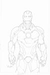 Iron Man illustration by Salvador Larroca