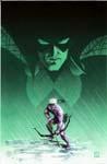 Green Arrow # 22 cover - acrylic