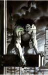 Green Arrow # 27 cover - acrylic