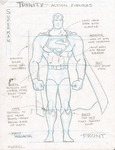 Superman action figure model sheet